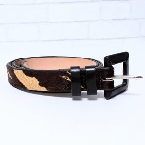 Classiques Entire Brown Cow Print Leather Belt L